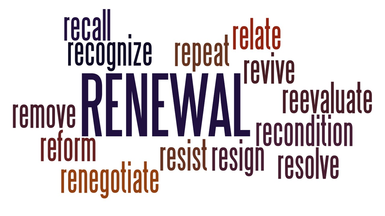 Wordle for Renewal Series