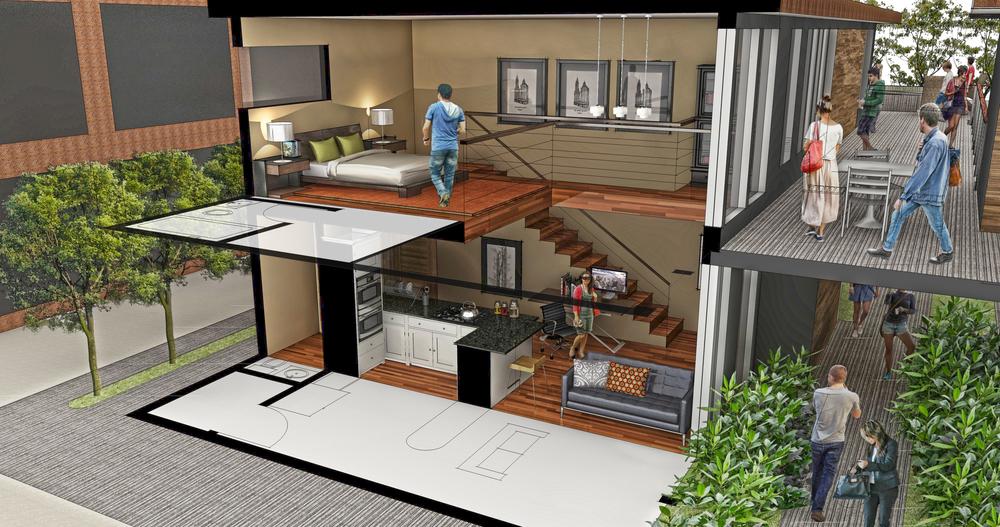 Apartment 1: 1BR/2 BA Loft Studio