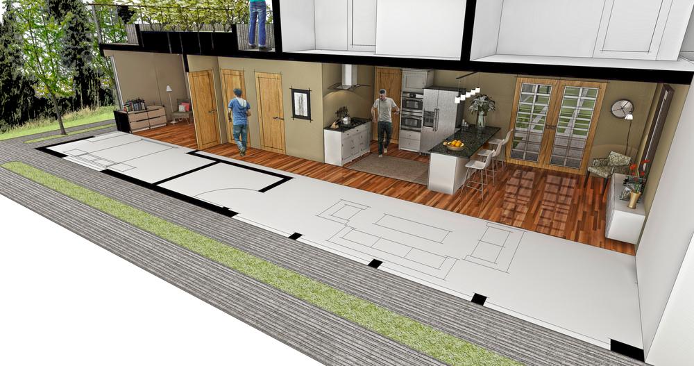 Apartment 3: 1 BR/1 BA