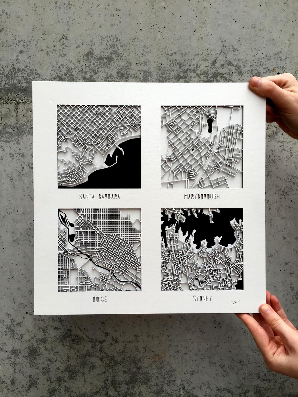 LASER CUT MAPS