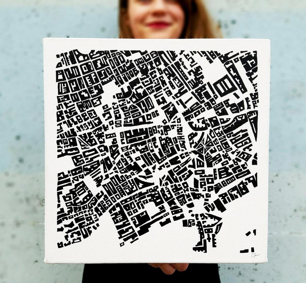Figure - ground painting: London