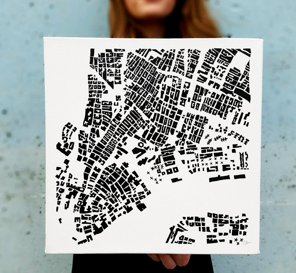 Figure - ground painting: New York City