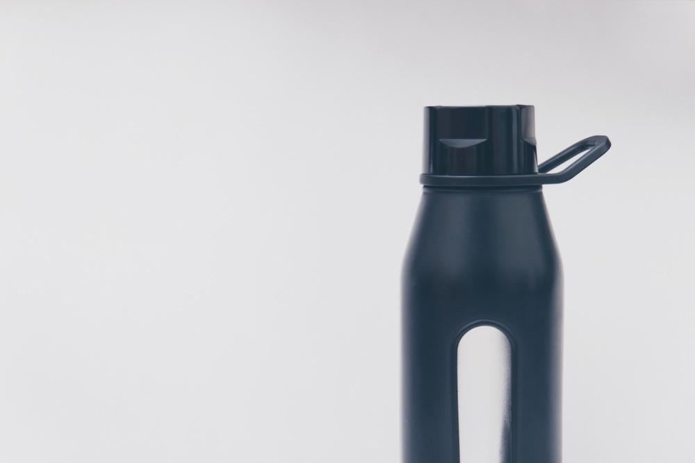 Black Takeya 22oz Glass Bottle with classic twist cap