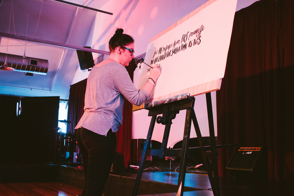 Me live lettering yesterday!
