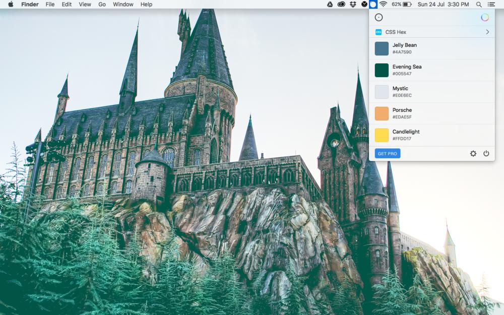 Sip app in use on my MacBook Pro