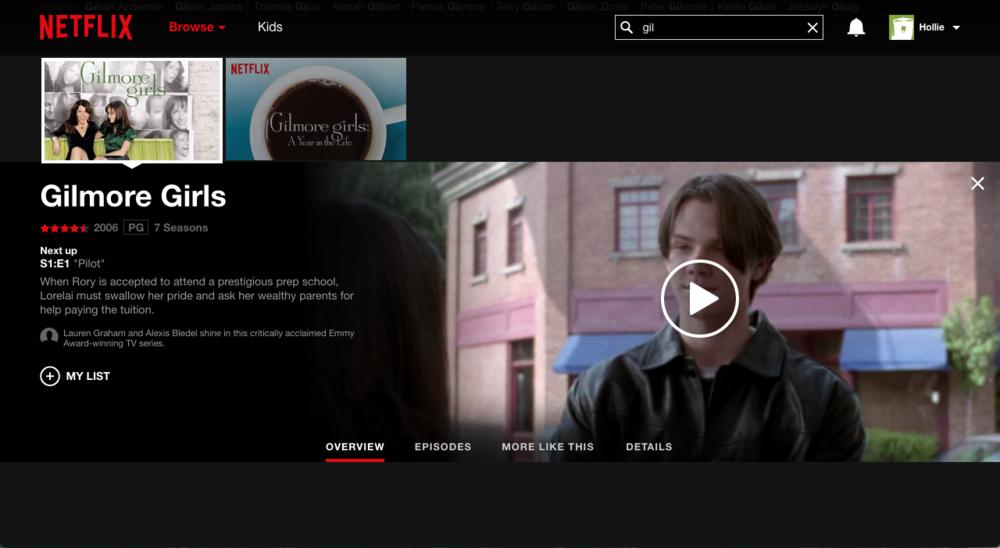 Gilmore Girls on Netflix!