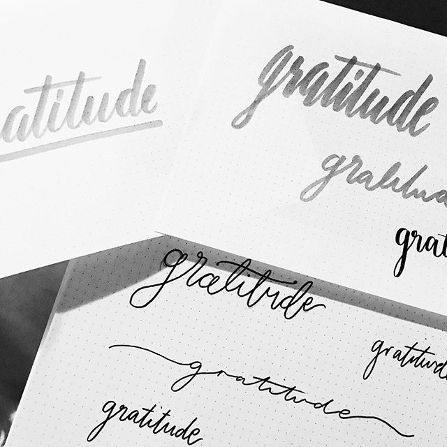 A healthy dose of gratitude! Trying some different #lettering styles for a project at the moment!