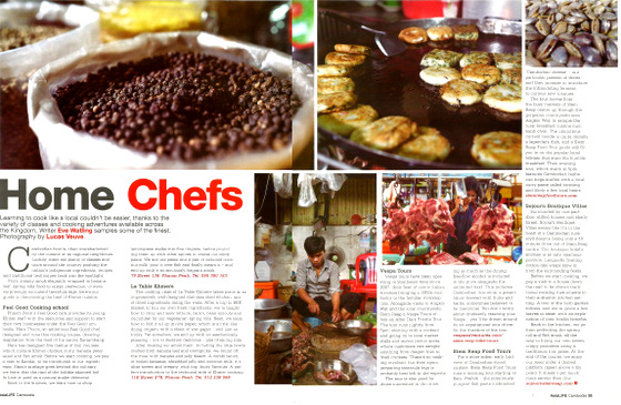 Siem Reap Food Tours featured in AsiaLIFE Magazine
