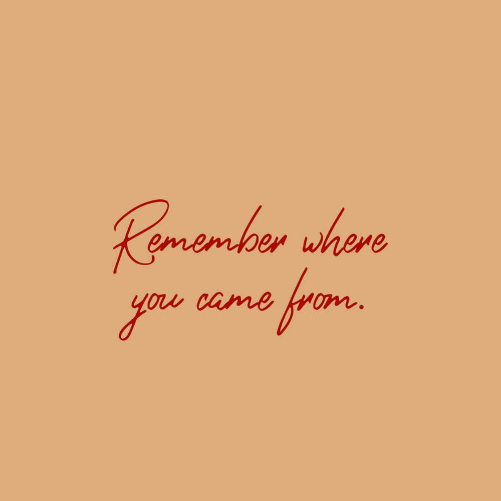 4 Remember Where You Came From A Check In Andréa Ranae