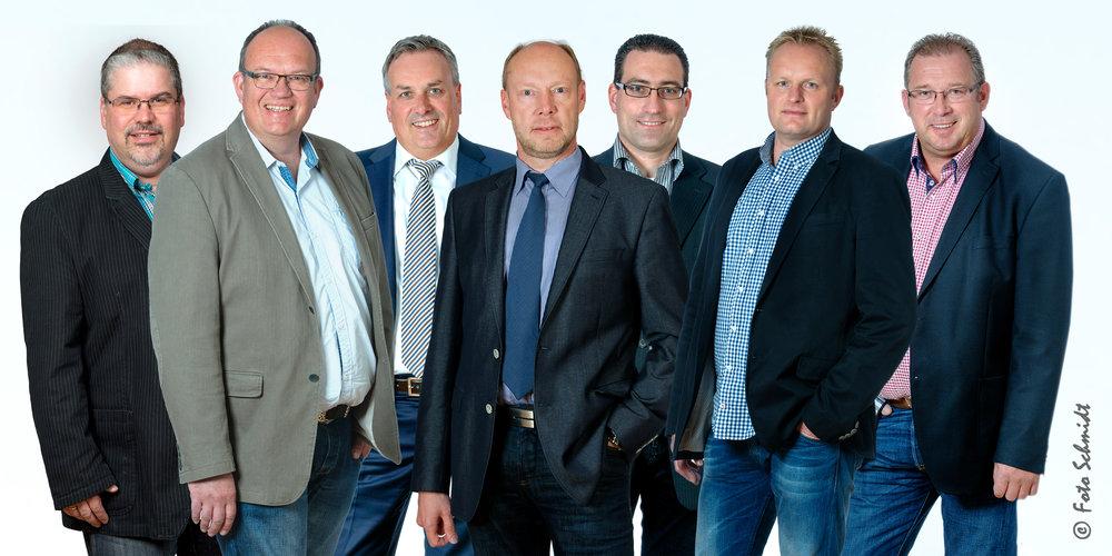 Vorstand der Elektro-Innung Oldenburg: v.l.n.r.: Matthias Meyer, Bernd Janßen, Thorsten Mayländer, Dieter Meyer, Andreas Grefe, Henk Voigt, Frank Przytulski