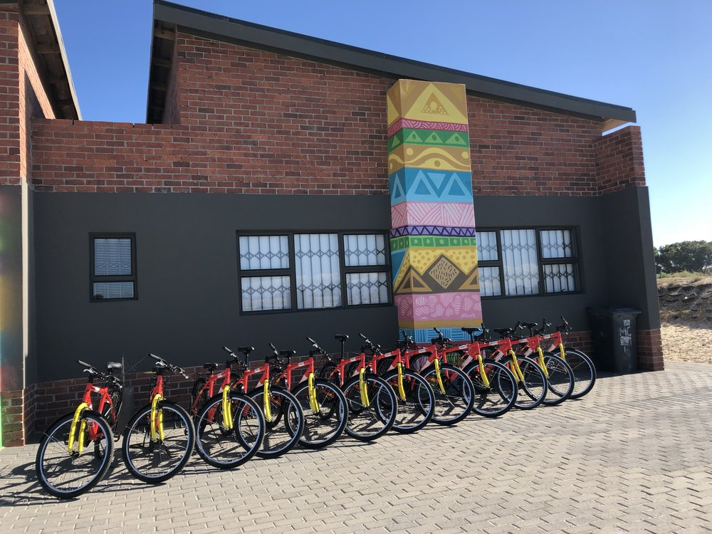Our bike setup when we arrived at Velokhaya.