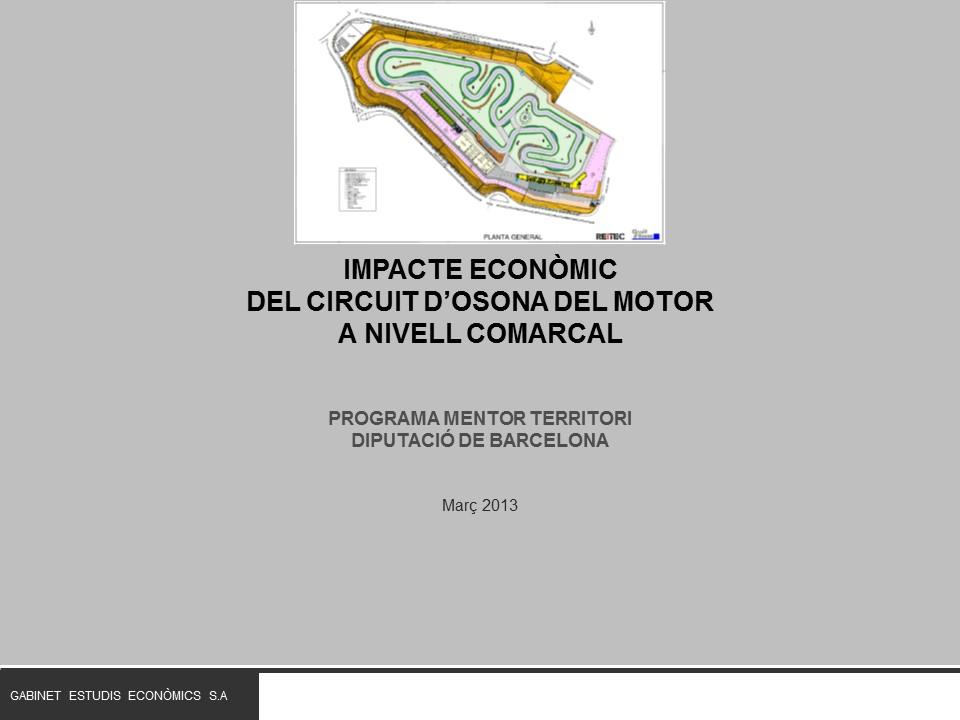 Impacte econòmic del Circuit del Motor d'Osona
