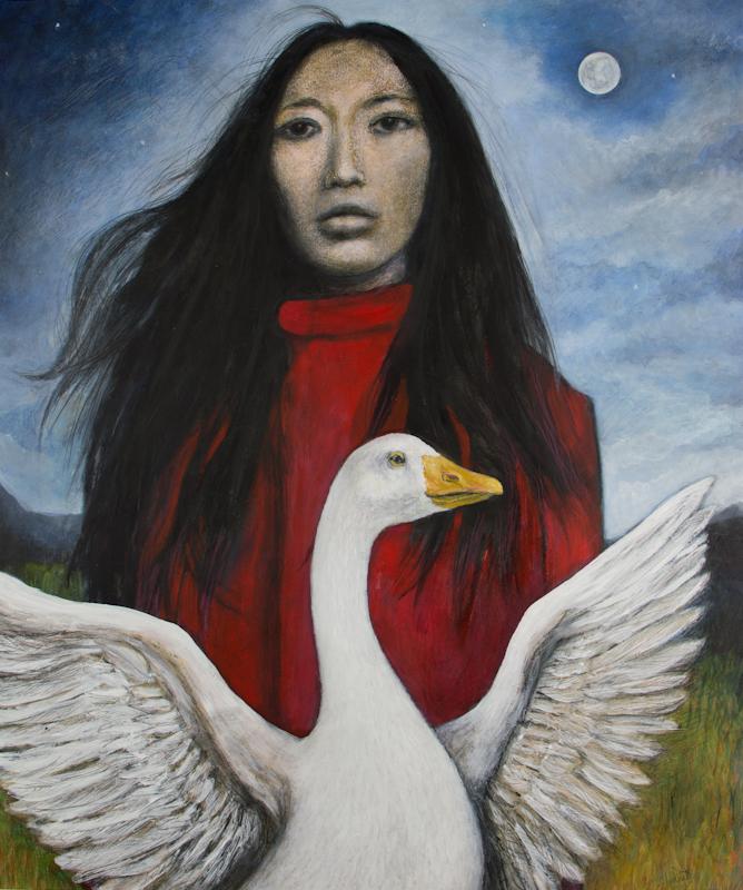 Juno's goose (Oriental Goose Girl)