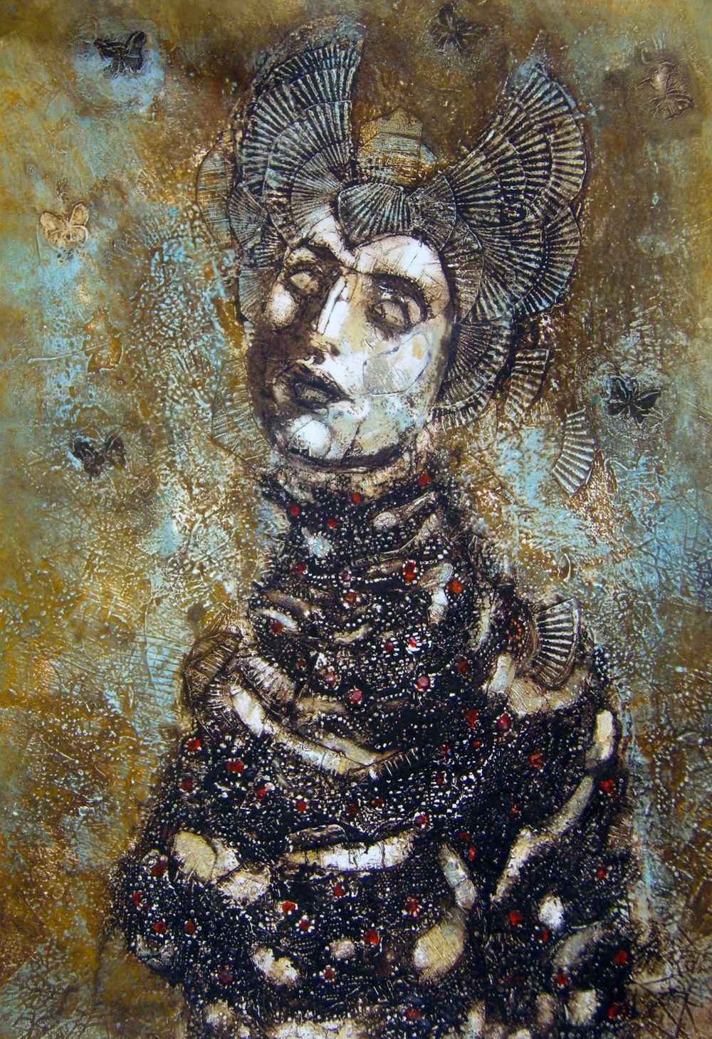 1.'Caprice'  Collagraph  33x24 ins..JPG