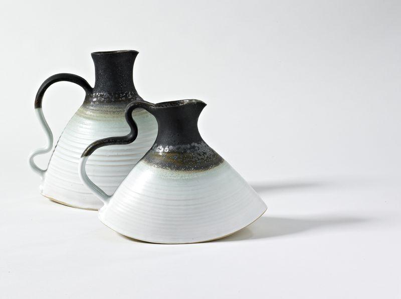 Stoneware Wavy Handle