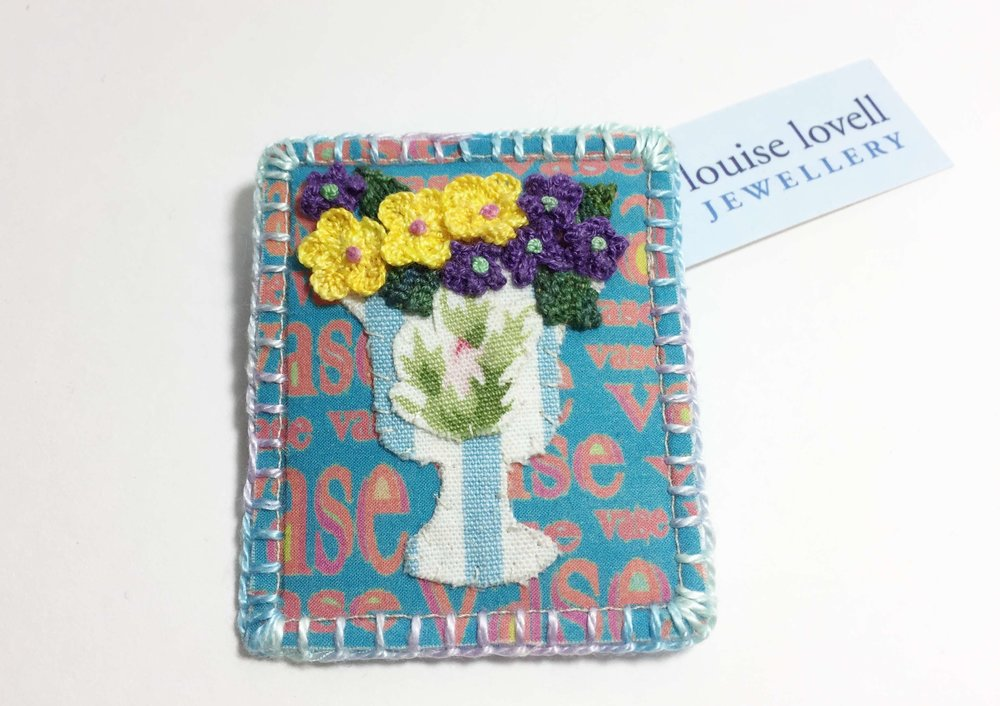 Flower Vase Brooch