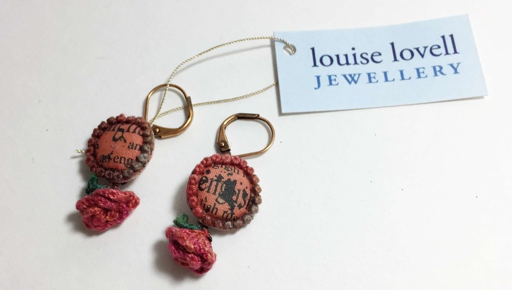 Rose and Butterfly Earrings