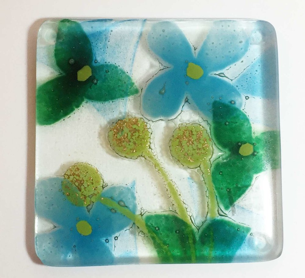 Glass Kiln Formed Coasters