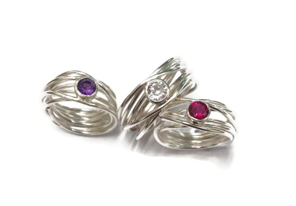 7 strand wrap rings  £99 each