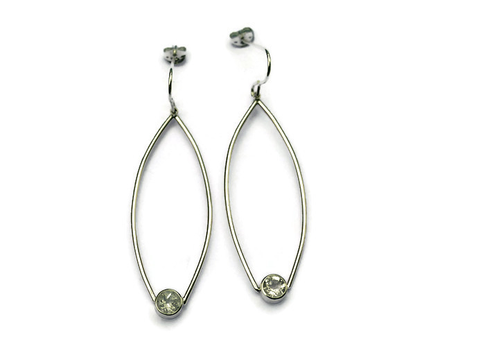 wrap around white topaz drop earrings - 3.5cms  £84