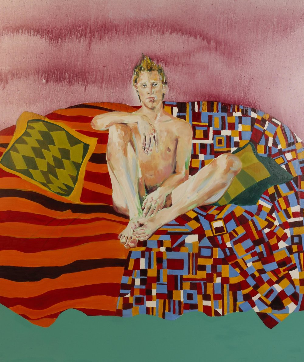 Kate Kelly  Jack Gazing  130x130cm