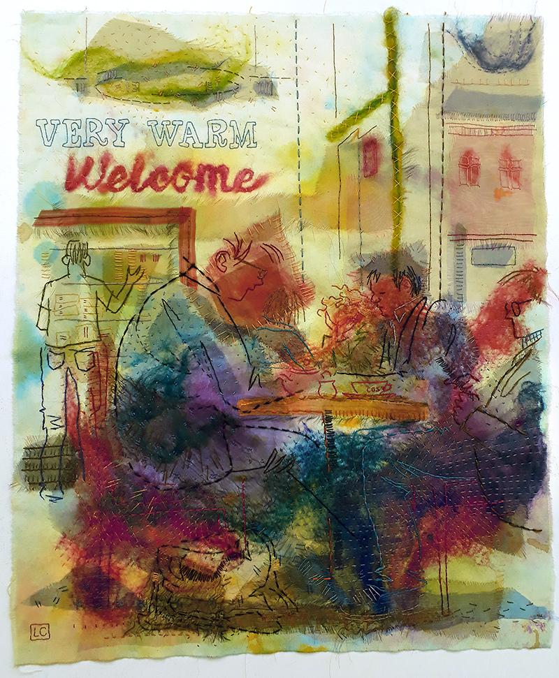 Lynne Chapman  Coffee Shop  53x61cm