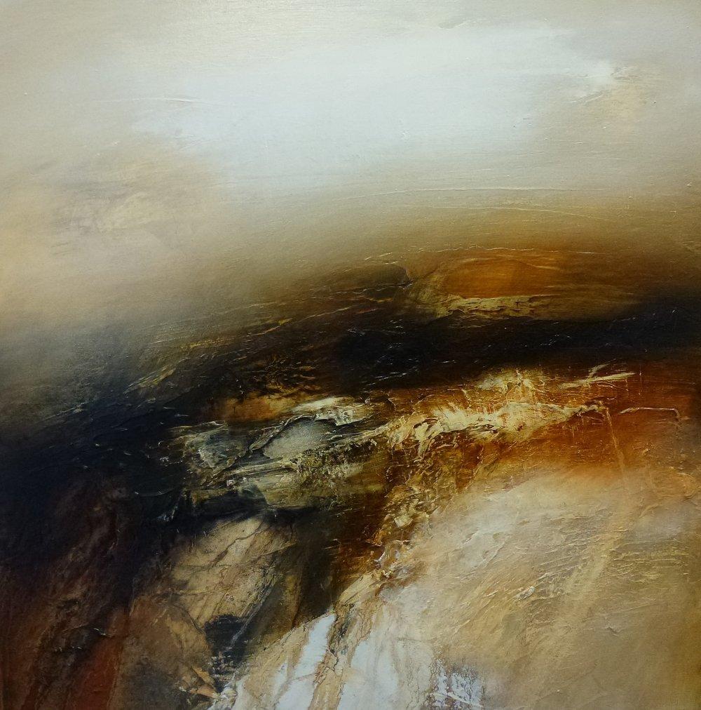 Moor at Leash Fen 60x60cm oil painting £950