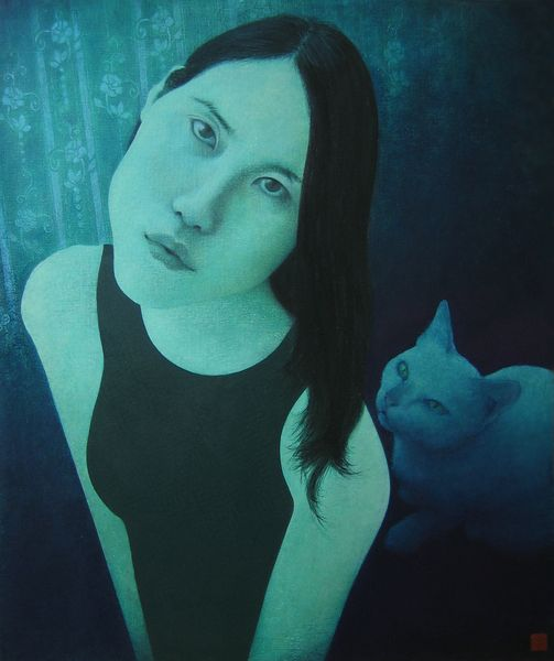 Philip & Jade  oil on board 60 x 50 cm  £600