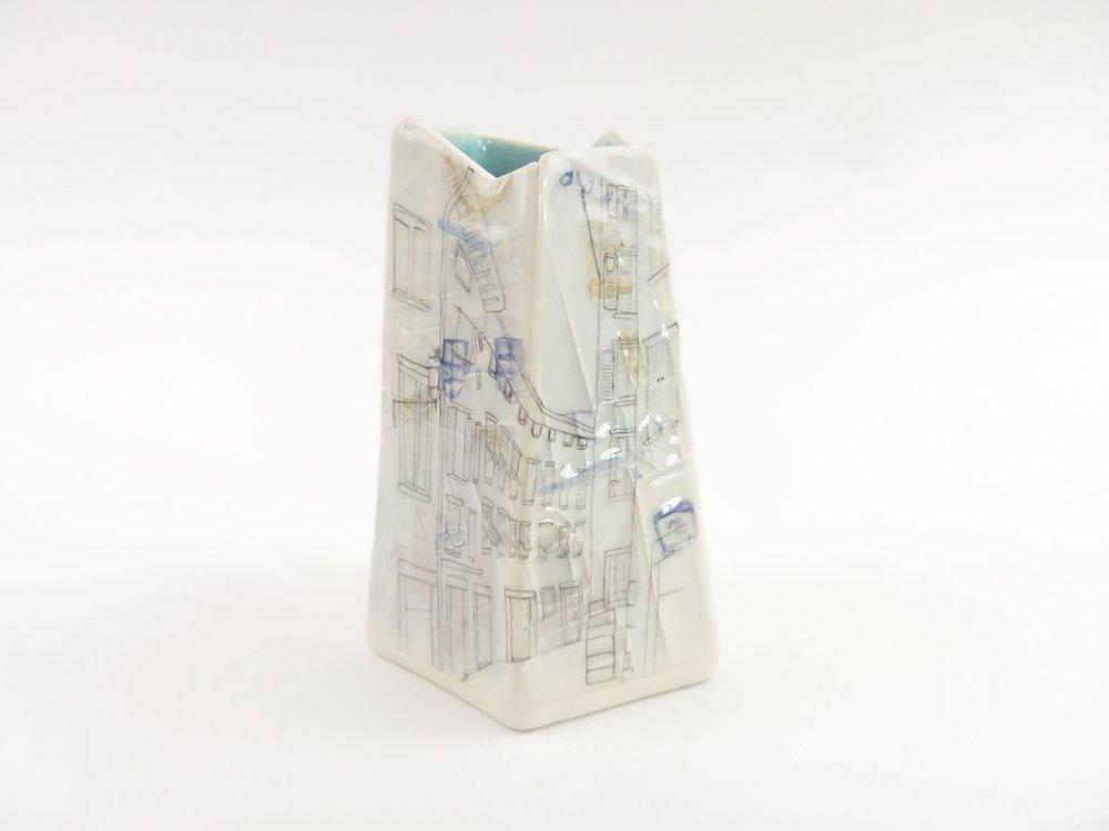 Small Italian Vessel - Blue Interior Glaze  £90