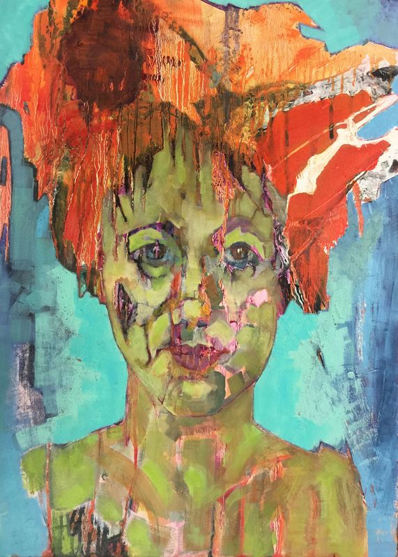 Alicia  Mixed media on paper on board  83 x 63 cm  £1800