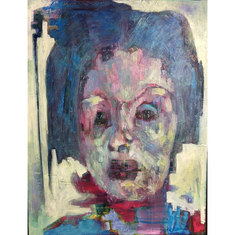 Feeling Blue  Mixed media on board  50 x 40 cm  £900
