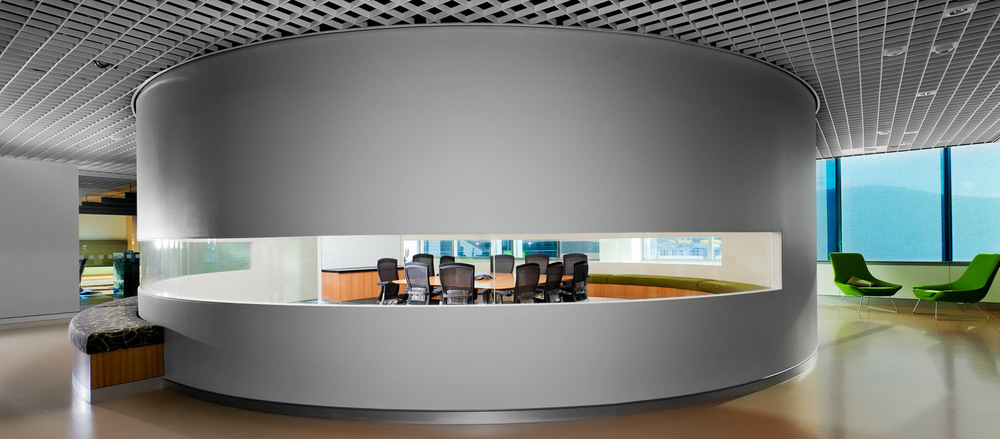 Internal round meeting room by Melbourne architecture photographer Stefan Postles