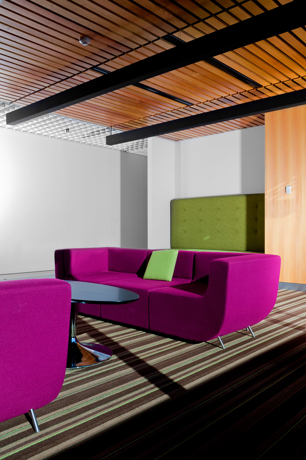 Interior office lounge space by Melbourne architecture photographer Stefan Postles