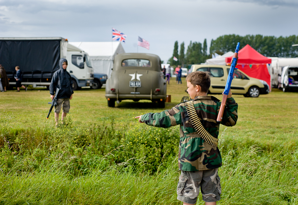 Children playing at re-enactment event in Essex