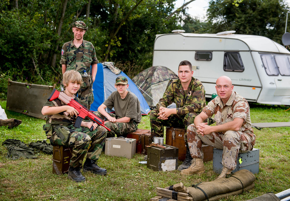 Campers, War and Peace show, Kent