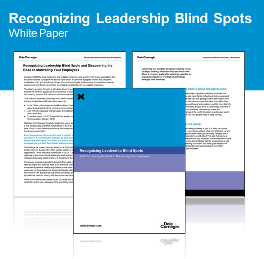 Recognizing Leadership Blind Spots -