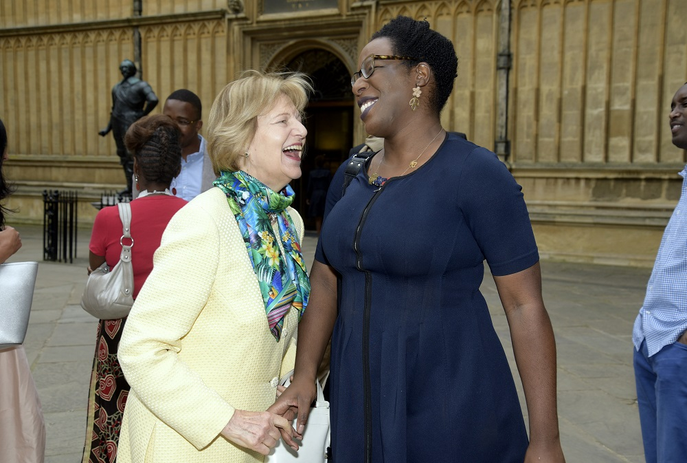 Baroness Nicholson and shortlisted writer Lesley Nneka Arimah