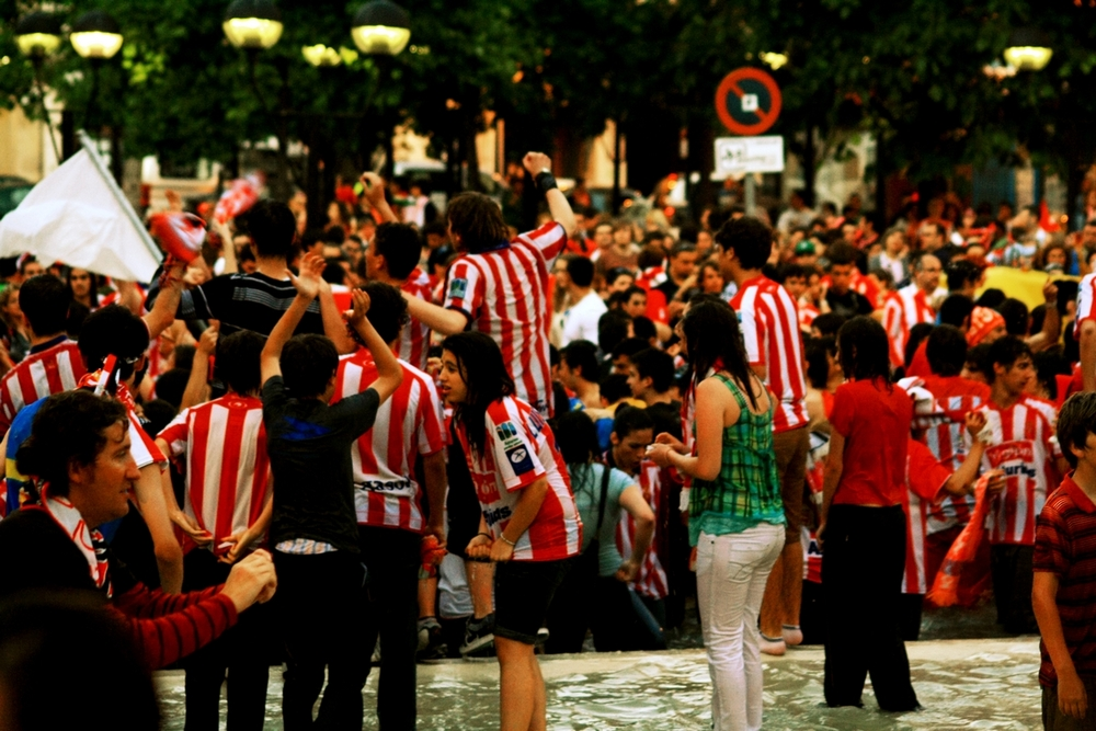 300.000 Sporting fans var på gaden i Gijon, for at fejre oprykningen til La Liga. Photo: Álvaro Millán/Flickr/CC BY-ND 2.0
