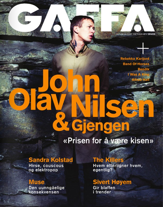 Took cover pictures of the norwegian musician  John Olav Nilsen  for the norwegian music magazine GAFFA (  http://gaffa.com  ). Out this month!
