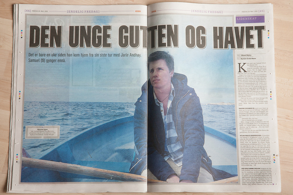 Got publish in the friday magazin # Endelig fredag. inside the norwegian newspaper Dagbladet .. 3 pages.  www.dagbladet.no