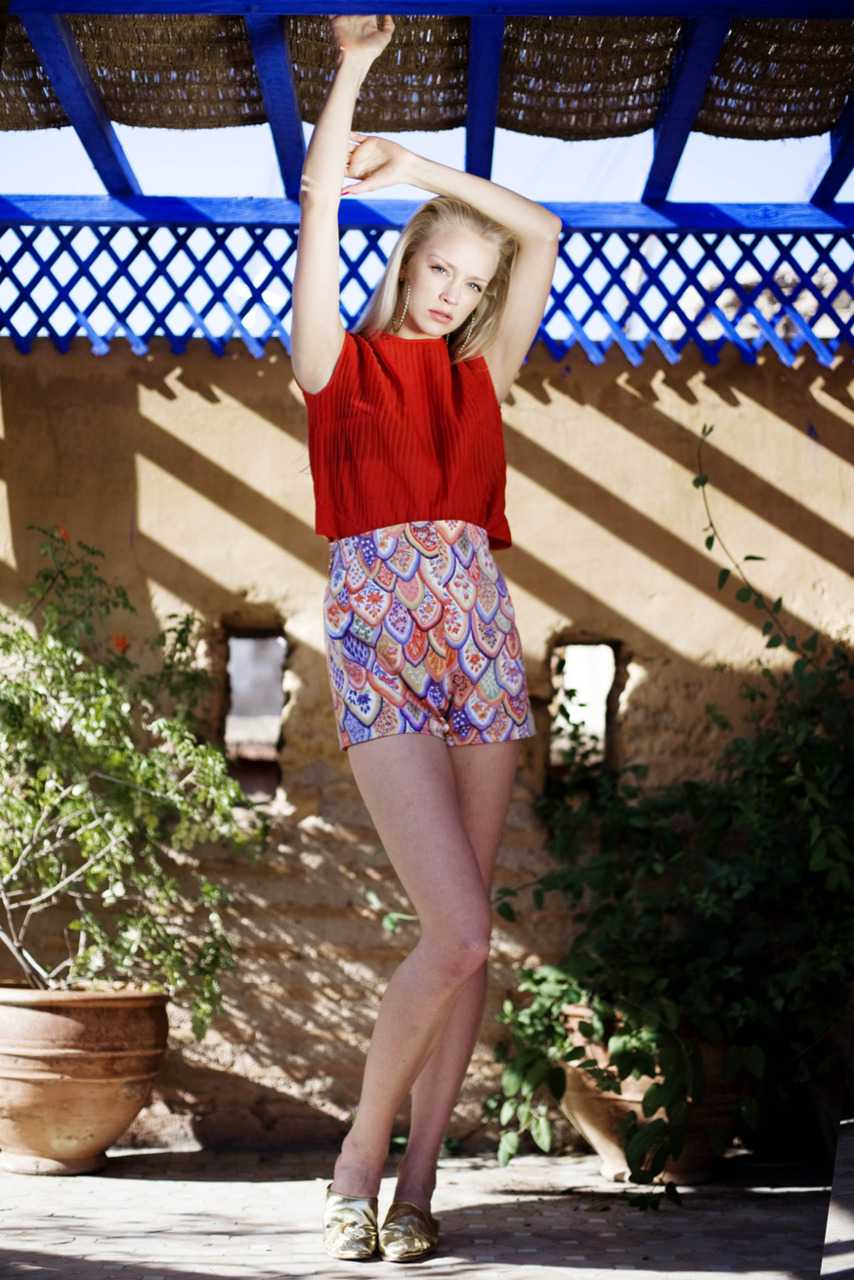 Fashion  Marthe Flatmo i Morocco.