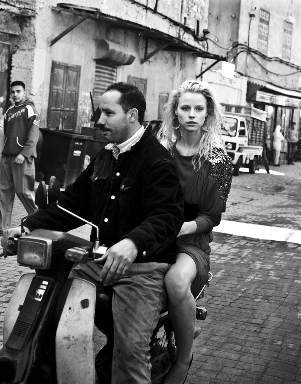 Julie H  Between Shoots Marrakech.