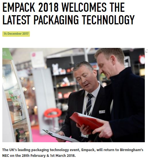 Packaging Europe - Empack 2018 Welcomes the Latest Packaging Technology