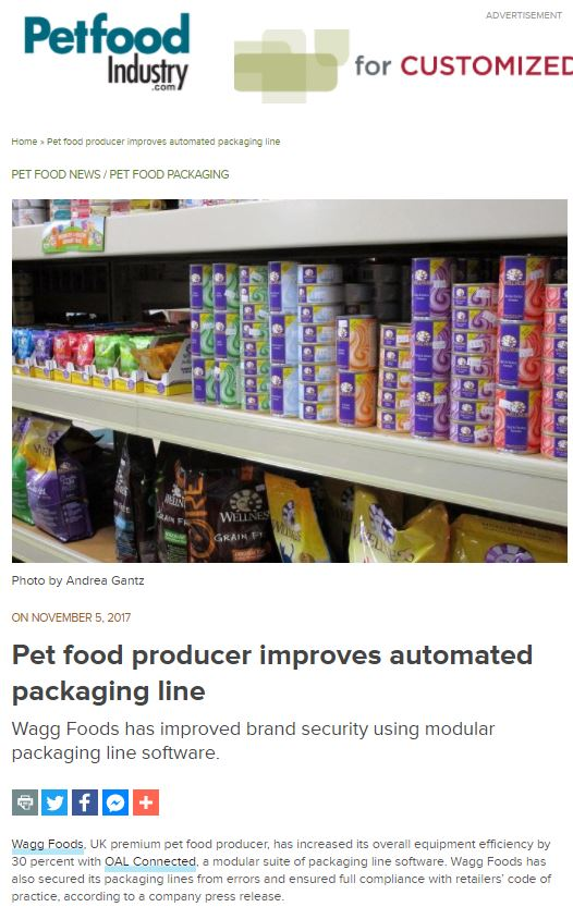 Petfood Industry - Pet Food Producer Improves Automated Packaging Line