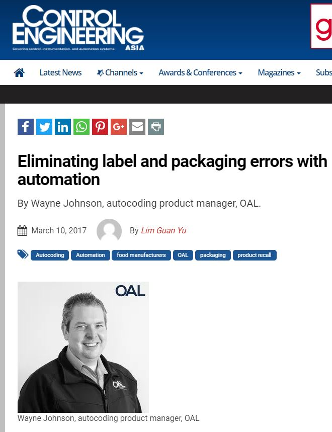 Control Engineering - Eliminating label and packaging errors with automation