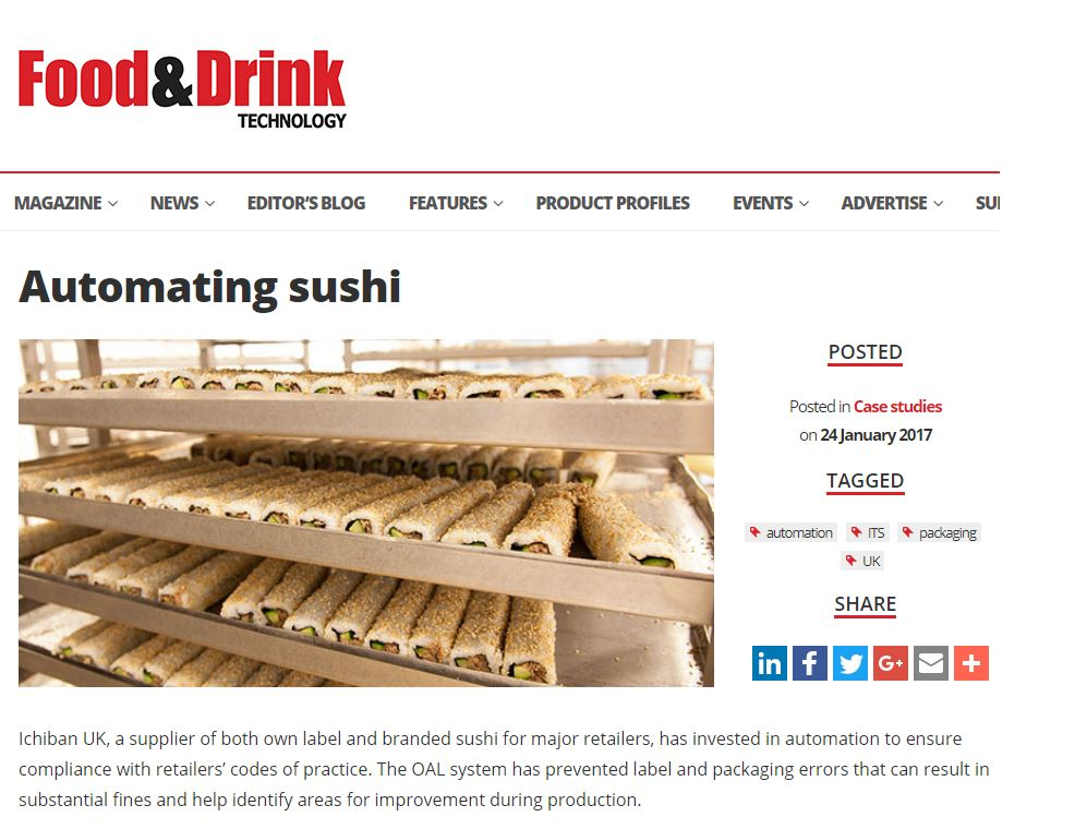 Food & Drink Technology - Automating Sushi