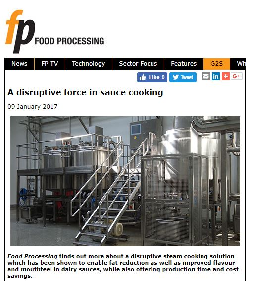 Food Processing - A Disruptive Force in Sauce Cooking
