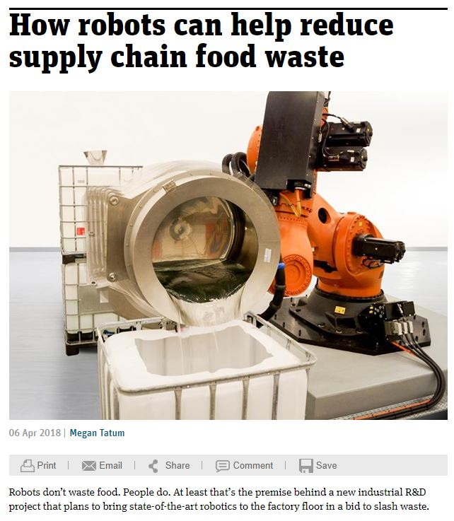 How Robots can Help Reduce Supply Chain Food Waste