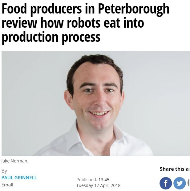 Food Producers in Peterborough Review How Robots Eat Into Production Process