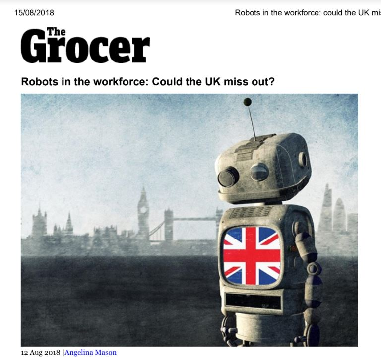 Robots in the Workforce. Could the UK Miss Out?